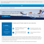 Citi Ready Credit: 3.99% p.a. for 3 Years on Initial Balance Transferred to Your Account, $199 Establishment Fee @ Citibank
