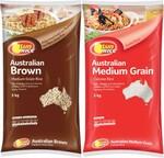½ Price SunRice Medium Grain Rice 5kg $8, I&J Raw Prawns Tail On/Off 500g $9.50, UP&GO 3 Pack $2.47 @ Coles