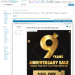 15% off Sitewide @ FastTech