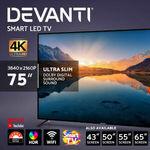 "[eBay Plus] Devanti LED Smart TV LCD TV 4K UHD HDR: 65"" $499.16, 55"" $424.28 Delivered @ Ozplaza.living eBay"