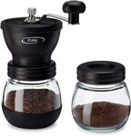 Manual Coffee Grinder with Ceramic Burrs & Glass Jar $16.99 (Was $39.99) Delivered @ Zolay Amazon AU
