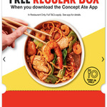 [SA, WA] Free Regular Box of Wokinabox (Dine-in Only) When You Download Concept Ate Rewards App