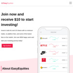 EasyEquities: Increased Referral to $25 for Referrer and $10 for Referee
