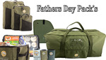 Father's Day Bag Packs: Ultimate $349, Pack #1 $199.95, Pack #2 $189.95, Pack #3 $59.95, Card $10 & $0 Delivery @ Cooee Canvas