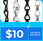 $10 off Minimum $100 Spend + Delivery ($0 VIC C&C) @ Chain.com.au