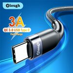 Elough 3A USB to USB-C Braided Cable US$1.65 (~A$2.28), 1m Cable US$2.07 (~A$2.86) Delivered @ Elough Global Store AliExpress