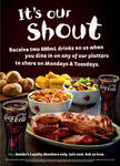2x600ml Free Drinks with Nandos 'Platters to Share' (Mondays and Tuesdays Only..)