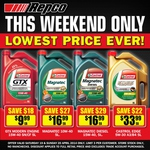 Repco Castrol Oils - MAGNATEC only $16.99! GTX 15W40 Mod Engine $9.99! Edge 5W30 at $33.99!