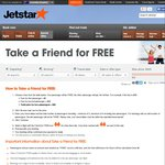 Jetstar Take a Friend for Free Sale . Prices Start from $39. Ends 21 May