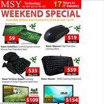 Razer Abyssus Mouse $19, Razer Tartarus Gaming Keypad $35, Razer Anansi Keyboard $59 @ MSY