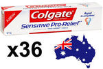 Colgate Sensitive Pro-Relief Toothpaste 50g X 36: $70 Shipped (63% off RRP) @ Kaws_shop eBay