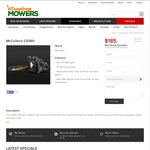 McCulloch CS360 Chainsaw, Now $185 (Save $44), Pickup in-Store Only (VIC) @ Hastings Mowers