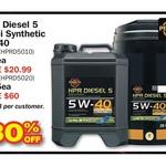 Penrite HPR Diesel 5 Semi Synthetic Oil 5W-40 10L $69, 20L $135 @ Repco till 8/11