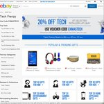 eBay Tech Frenzy - 20% off on Selected Retailers