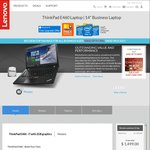 "Lenovo ThinkPad E460 i7-6500U, 14"" FHD, 16GB RAM, 1TB HDD, R7 M360 $998 Delivered"