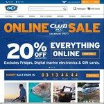 20% off Online (10% off Fridges & Digital Marine Electronics) @ BCF (Free Club Membership Req.)