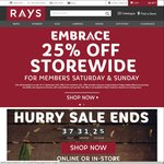 Rays Outdoors 25% off Storewide for Members