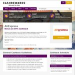 AliExpress Cashback Increases from 7% to 10% @ Cashrewards (Ends Sunday)