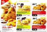 KFC Vouchers (Excludes WA/QLD/NT) - Cheap as Chips Meal $20.95, Double Burger Combo $11.95, Colonels Banquet Meal $42.75 + More