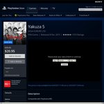 Yakuza 5 - $20.95 / Yakuza 4 or Deadsouls - $10.45 (EN AU PSN) - PS3 - Digital Download