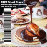 Pancake Parlour Short Stack with Topping (Choc Fudge/Salted Caramel/Maple Syrup) $5.3-$5.5 (VIC)