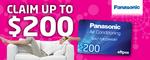 Panasonic Air Conditioner Cashback up to $200