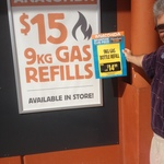 [Qld] Townsville 9kg & 4kg LPG Refills $15.00 @ Anaconda