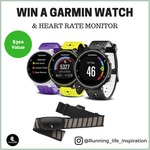 WIN Garmin GPS Smart Watch + Heart Rate Monitor Worth $300