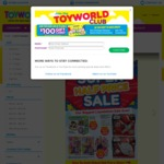 Toyworld's Super Half Price Sale, 50-80% off Catalogued Items Including Star Wars, Barbie, Disney Frozen + More (Instore Only)