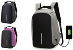 Anti-Theft Backpack with USB Charging Port: One ($29.95) or Two ($49.95) (+ Delivery) @ Groupon