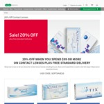 Specsavers: 20% off Contact Lenses + Free Standard Delivery ($99+ Purchases)