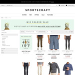 Sportscraft: Mid Seaon Sale - Extra 40% off Sale Items (Free Click & Collect / Free Shipping over $200)