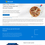Free Domino's Traditional Pizza for Signing up to Microsoft Rewards