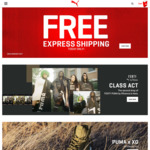 Free Express Shipping @ PUMA