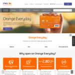 ING: Bonus $75 When You Open an Orange Everyday Bank Account (Deposit $1,000 + Make 5 Transactions)