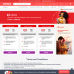 $24 Cashback on $25 (Was $50) Vodafone Mobile Broadband Starter Pack (180 Days Expiry & 35GB Data) via Shopback