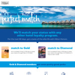 Hilton Status Match with Any Other Hotel Loyalty Program