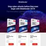 Bitdefender Total Security 2019 5 Devices / 1 Year $34.99