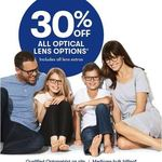 30% off All Optical Lens Options Big W Optical in-Store