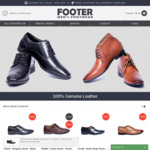 60% off Store-Wide & Free Shipping on Order $99 (Men's Genuine Leather Shoes & Boots) @ FOOTER.com.au