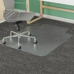 Clear Plastic Chair Mat Carpet and Hard Floor Options Delivered Flat Not Rolled from $21 + Free Delivery @ Matshop