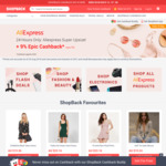 AliExpress 9% Cashback (was 5%) @ Shopback