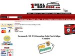 Lexmark 32 33 Genuine Ink Cartridge Black & Colour Combo $45.00 FREE Shipping @ 1 Deal a Day
