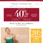 40% off Already Reduced Prices @ French Connection (Online Only)