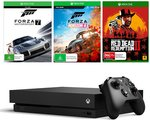 10% off Sitewide (2pm-10pm): Xbox One X with Red Dead II + Forza 4 & Forza Motorsport 7 $539.95 (+ Shipping) @ The Gamesmen
