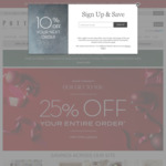 West Elm, Pottery Barn, Williams Sonoma, Pottery Barn Kids - 25% off Everything (except Clearance Items)
