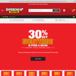 30% off RRP Storewide @ Supercheap Auto