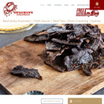 Beef Jerky 40g Subscription of 12 Deliveries (from $79) - 10% off + Free Freight @ Swagmans