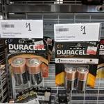 [QLD] Duracell Batteries, Size C & D 2-Pack $1 Each @ Target, Port Douglas