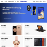 10% off Samsung Smartphones, Tablets, Accessories and Wearables When You Checkout Using Samsung Pay @ Samsung Shop